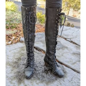 •Free People• Jeffrey Campbell Thigh High Boots